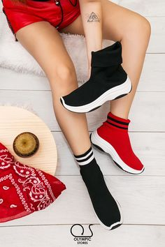 #SneakersBootie #Black #Red #BlackWhite 👉Κωδ:5111 👉29.99€ 🚛Δωρεάν έξοδα αποστολής 💲Δωρεάν η πρώτη αλλαγη  #ΟlympicStores #OSHOESgr #AutumnCollection #oshoesSUPEROFFER #GetEmAll #WOMANSTYLE #STYLESHOES #NEWSHOES #fashionweek #moda #autumn2018 Platform, Detail, Heels, Sneakers, Fashion, Heel, Tennis, Moda, Wedge