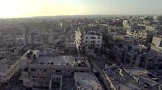 Aftermath of Gaza op: Bird's eye view of Saja'iyya in ruins (Photo: YNetNews).