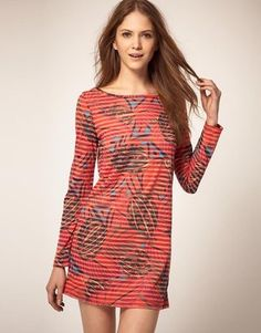 French Connection Leaf Print Dress