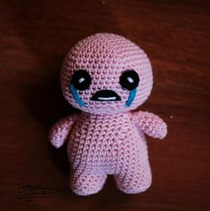 Amigurumi Isaac from a famous game, made for a friend.