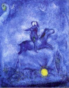 Marc Chagall 'The Story of Qamar Zaman and the Art of the Jeweler's Wife' Marc Chagall, Artist Chagall, Chagall Paintings, Oil Paintings, Indian Paintings, Abstract Paintings, Landscape Paintings, Blue Painting, Painting & Drawing