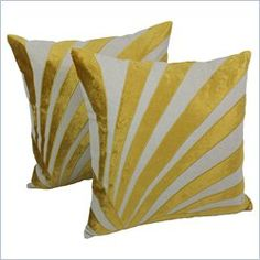 Blazing Needles Indian Sun Ray Throw Pillows in Natural (Set of 2)