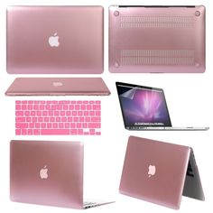 "Glossy Metallic Hard Case for Apple Mac Macbook Air Pro Retina 11"" 13"" 15"" Pink #UnbrandedGeneric"