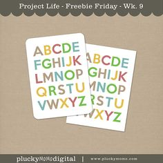 ALPHABET FREEBIE for Scrapbooking or Project Life By PLUCKY MOMO.