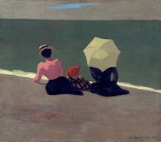 félix edouard vallotton(1865-1925), on the beach, 1899. oil on cardboard. private collection http://www.the-athenaeum.org/art/detail.php?ID=54679
