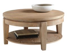 Asia Round Coffee Table in Driftwood