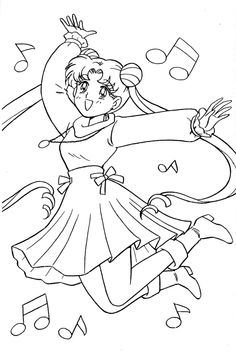 anime how to draw Sailor Moon Coloring Pages, Blank Coloring Pages, Coloring Sheets For Kids, Coloring Pages For Girls, Cool Coloring Pages, Printable Coloring Pages, Adult Coloring, Coloring Books, Sailor Moon Stars