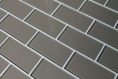 Manhattan Taupe Brown 3x6 Glass Subway Tiles