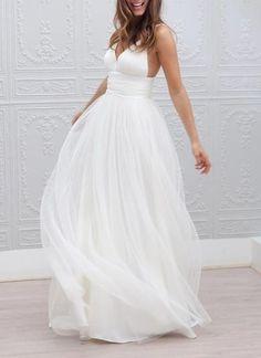 Simple bridesmaid dress,Spaghetti Straps bridesmaid dress,Sexy Backless bridesmaid Dress,V-neck beach wedding dresses