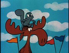 Rocky & Bullwinkle...Moose an squirrel...