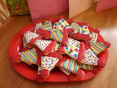Cookies to go with the circus cake I made. Sugar cookies with Simple By Designs royal icing. Thanks for looking. :)