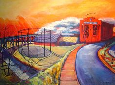 Fulton Gas Works #RVA Acrylic Painting