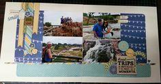South Dakota scrapbook layout,  Sioux Falls Park,  scrapbook generation kit
