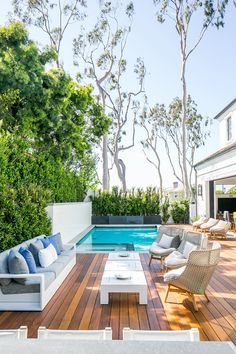 Incredible Wooden Deck Design Ideas For Outdoor Swimming Pool – DECK Pool Pool, Outdoor Swimming Pool, Pool Decks, Backyard Pools, Pool With Deck, Indoor Pools, Pool Fence, Backyard Landscaping, Deck Design