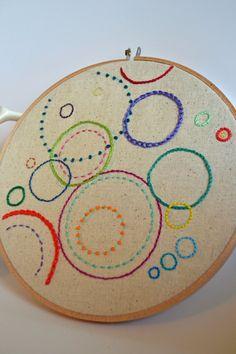 Hand Embroidery Hoop Art Circles Hand by atticusandcole on Etsy fazer mandalas ver meus livros