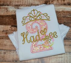 Pink and Gold Princess Birthday Shirt - Princess - First Birthday - Princess Birthday - Girls Birthday - Girl Princess Birthday Shirt by LeopardDIVAS on Etsy https://www.etsy.com/listing/219514052/pink-and-gold-princess-birthday-shirt