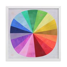 """Color Wheel"" - Limited Edition Art Print by melanie mikecz in beautiful frame options and a variety of sizes. Custom Art Print, Elementary School Art, Wall Art Prints, Paint Color Wheel, Art Wall Kids, Limited Edition Art Print, Art, Childrens Art, Color Wheel"