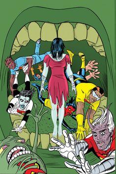X-Statix by Mike Allred * Mike Allred, Comic Art Community, Marvel Comic Character, Animation Reference, Marvel X, Comic Books Art, Nerd, Comics, Cover