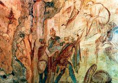 Byzantine frescoes in Santa Maria Foris Portas, Castelseprio, Varese, Italy. Santa Maria, Canton Ticino, Milan City, Carolingian, Life Of Christ, Last Supper, Romanesque, Byzantine, Roman Empire