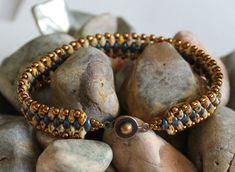 Petite Superduo Band Bracelet by ReggiesCreations on Etsy