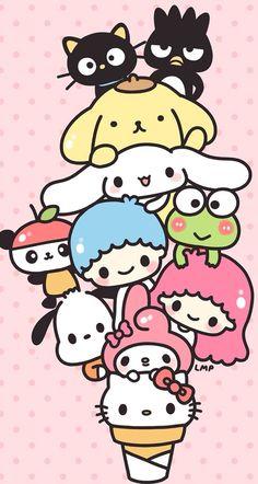 Image result for kawaii sanrio wallpaper