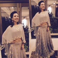 """89 Likes, 4 Comments - Chhavvi Aggarwal (@chhavviaggarwalofficial) on Instagram: """"This stunner in our cape lehenga !! #chhavviaggarwal#clientdiaries#indiancontemporary"""""""