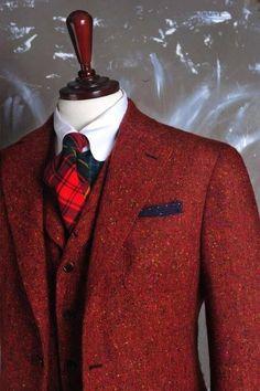Risultati immagini per man red jackets tweed
