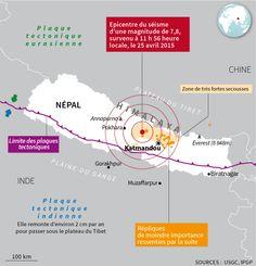 Le séisme qui a dévasté le Népal et sa capitale le samedi 25 avril, Infographie Le Monde