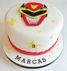 Red Power Ranger Cake | Flickr - Photo Sharing!