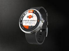 google smartwatch, android wear, moto 360, konzept - soundcloud