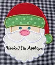 santa-hooked on applique
