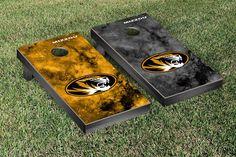 Reach for the Stars University of Missouri Tigers Galaxy Cornhole Game