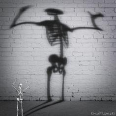 New party member! Tags: dance dancing fun death dead happiness skeleton joy skeletons kiszkiloszki nihilism nihilist misanthropy
