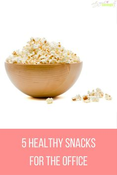 5 Healthy Snacks for the Office | City Girl Savings  When we're at work, we may be working so hard we ignore our hunger, only to binge eat something that kills the diet. Instead of avoiding eating or overeating, we're sharing 5 snacks that are portable, healthy and 100% safe to eat in the workplace.