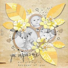 Layout by Conny - inspiration of Spring Leaves