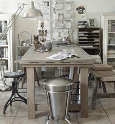 Kreativt hjemmekontor med orden og hygge