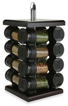 Olde Thompson Espresso Wood Spice Rack   I Cook Different