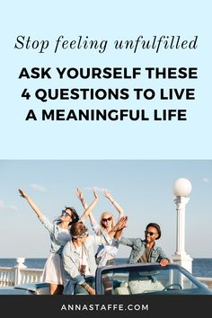 How to live a meaningful life and find your purpose is common asked questions. And if you're feeling unfulfilled in your life I can help you ask 4 personal questions that will help you live your life to the fullest. Self Development Books, Development Quotes, Personal Development, Personal Questions, Life Questions, This Or That Questions, Self Love Books, Self Love Affirmations, Mindfulness Activities