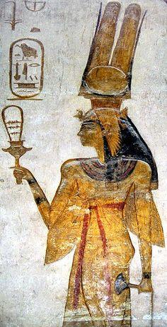Abu Simbel, Small Temple, Nefertari dedicated to the wife of Ramesses II and Goddess Harthor, Nefartari with Sistrum Date 2009-11-16 16:02