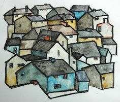 Miriam Paternoster is my hero!!!  Another AMAZING idea with oil pastel, acrylic, and watercolor.  I've got to try this.