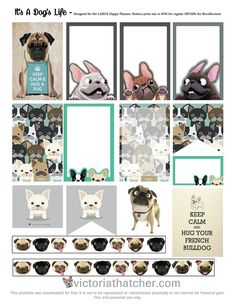 It's A Dog's Life Planner Printable