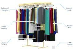 Clothes Rail, Hanging Clothes, Closet Storage, Closet Organization, Smart Closet, Wardrobe Rail, Shower Rail, Trends Magazine, Home Trends