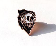 Til Death Lapel pins / / sterven geslagen ijzer door Bonesandcompany