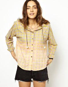 Maison Scotch Dip Dyed Checked Shirt