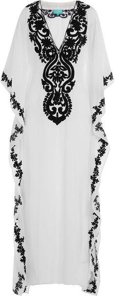 Taj Embroidered Silk Kaftan