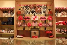 Valentine's Day Decor at Moonstruck Chocolate Cafe