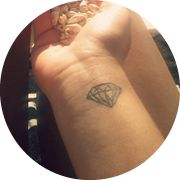 Small Diamond Tattoo Design: On Inner Wrist