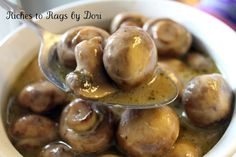 Delicious Crockpot Ranch Parmesan Mushrooms as side or topping for a steak.