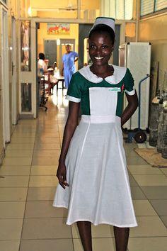 Nurses wear traditional uniforms at Korle Bu Teaching Hospital. Read about the Colorectal Center's 2012 mission:  http://cincinnatichildrensblog.org/category/ghana-2012/