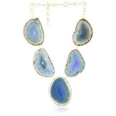 Isharya Lunar Druzy Azure Blue Necklace